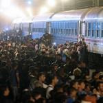Damir Senčar Stampedo izbjeglica na ulasku u vlak // Vijesti i događaji